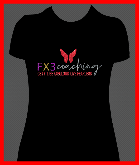 Black Fx3 Multicolor Glitter Shirt