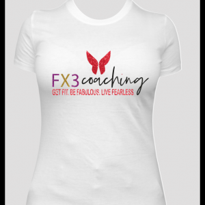 White Fx3 Multicolor Glitter Shirt